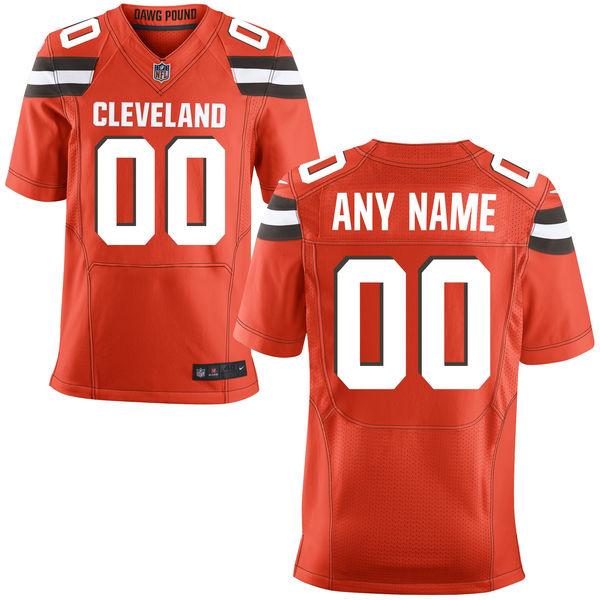 Nike Browns Orange Men's Customized Elite Jersey
