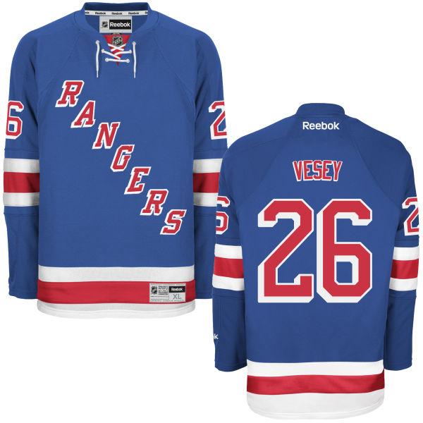 Rangers 26 Jimmy Vesey Royal Blue Premier Home Jersey