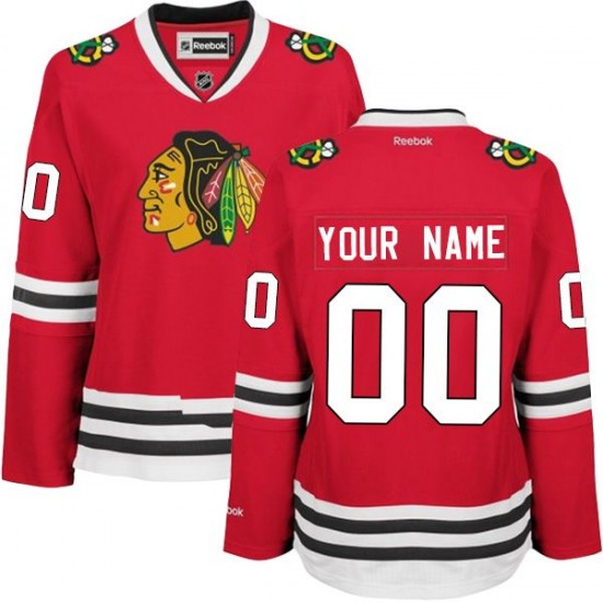 Chicago Blackhawks Red Women's Premier Home Reebok Custom Jersey