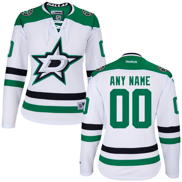Dallas Stars White Premier Women's Away Custom Jersey