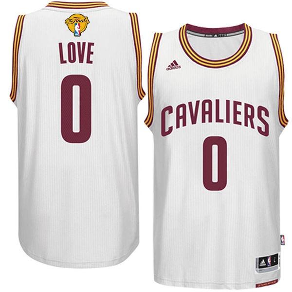 Cavaliers 0 Kevin Love White 2016 NBA Finals Swingman Jersey