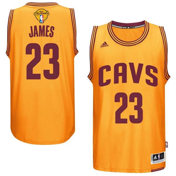 Cavaliers 23 Lebron James Gold 2017 NBA Finals Swingman Jersey