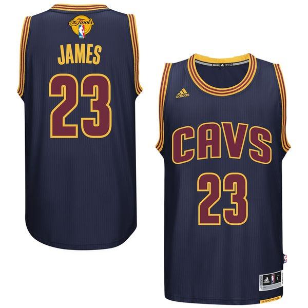 Cavaliers 23 Lebron James Navy 2016 NBA Finals Swingman Jersey