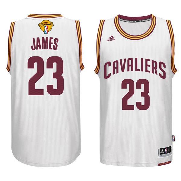 Cavaliers 23 Lebron James White 2017 NBA Finals Swingman Jersey
