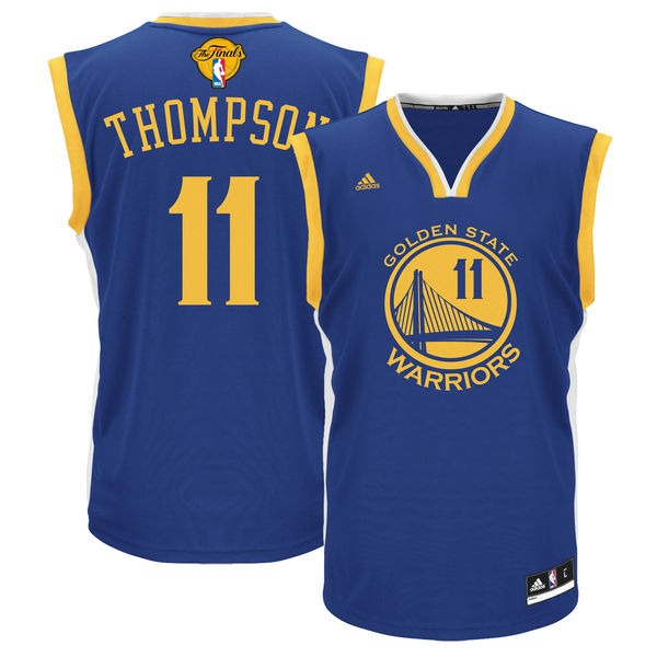 Warriors 11 Klay Thompson Blue 2016 NBA Finals Swingman Jersey