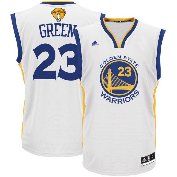 Warriors 23 Draymond Green White 2017 NBA Finals Swingman Jersey