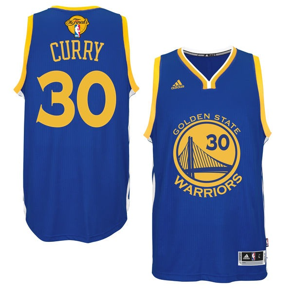 Warriors 30 Stephen Curry Royal 2016 NBA Finals Swingman Jersey