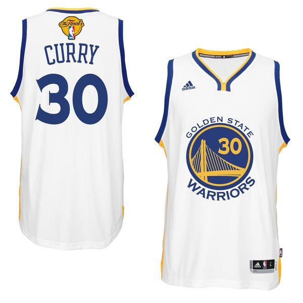 Warriors 30 Stephen Curry White 2017 NBA Finals Swingman Jersey