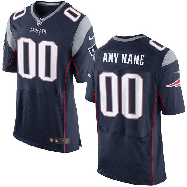 Nike New England Patriots Navy Men's Custom Elite Jersey
