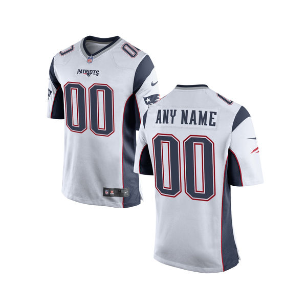 Nike New England Patriots White Youth Custom Game Jersey
