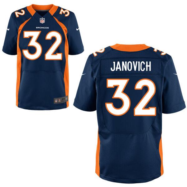 Nike Broncos 32 Andy Janovich Navy Blue Elite Jersey