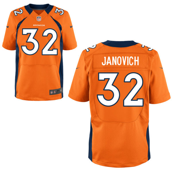 Nike Broncos 32 Andy Janovich Orange Elite Jersey