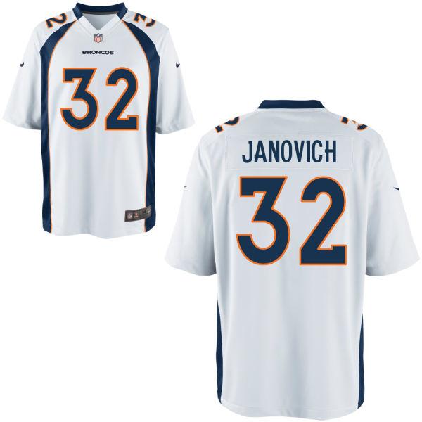 Nike Broncos 32 Andy Janovich White Elite Jersey