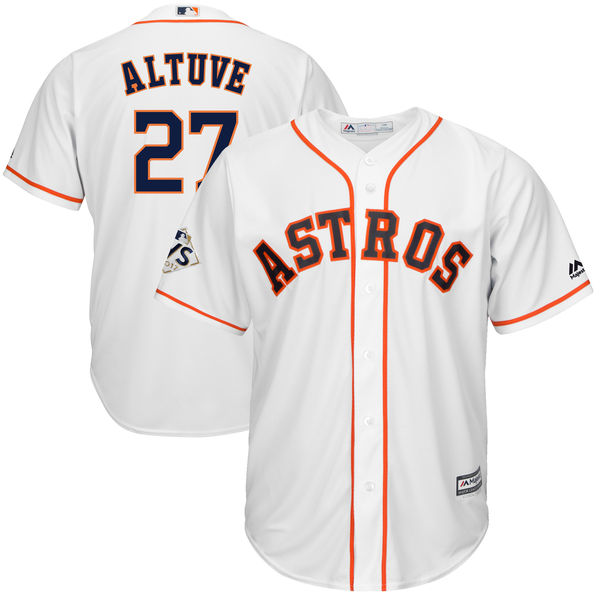 Astros 27 Jose Altuve White 2017 World Series Bound Cool Base Player Jersey