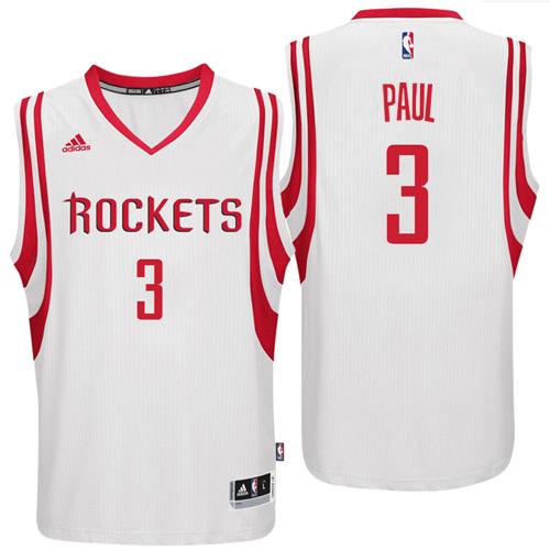 Rockets 3 Chris Paul White Replica Jersey
