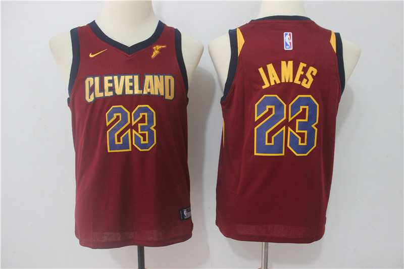 Cavaliers 23 LeBron James Red Youth Nike Swingman Jersey
