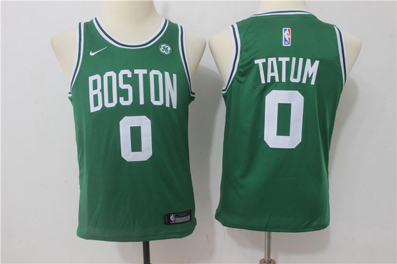 Celtics 0 Jayson Tatum Green Nike Youth Swingman Jersey
