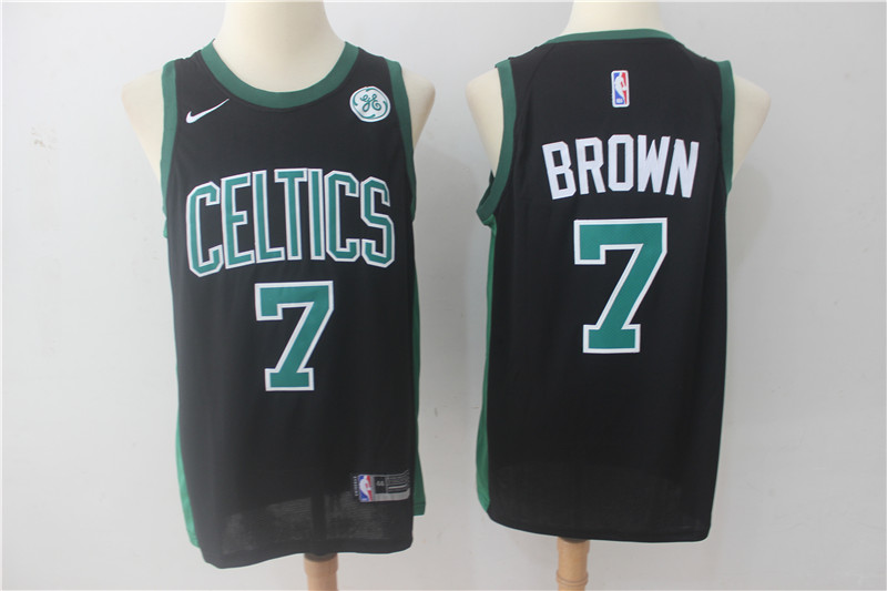 Celtics 7 Jaylen Brown Black Nike Swingman Jersey