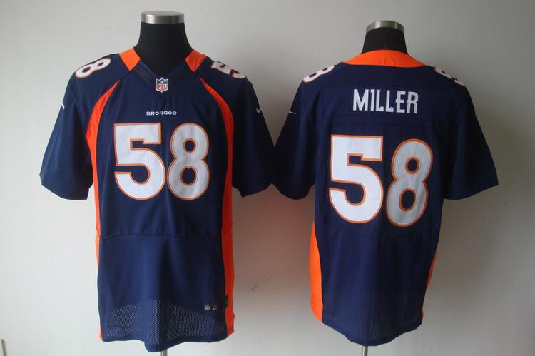 Nike Broncos 58 Von Miller Navy Big Size Elite Jersey
