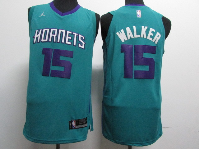 Hornets 15 Kemba Walker Teal Nike Authentic Jersey