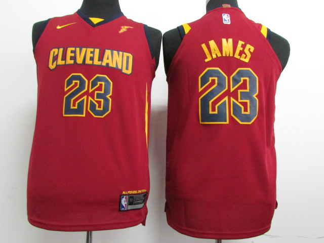 Cavaliers 23 LeBron James Red Youth Nike Authentic Jersey