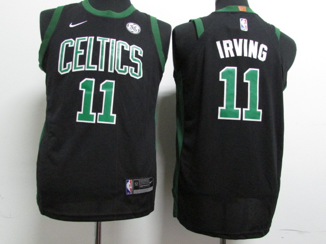 Celtics 11 Kyrie Irving Black Youth Nike Authentic Jersey