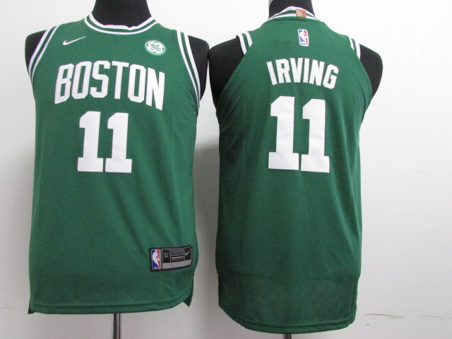 Celtics 11 Kyrie Irving Green Youth Nike Authentic Jersey