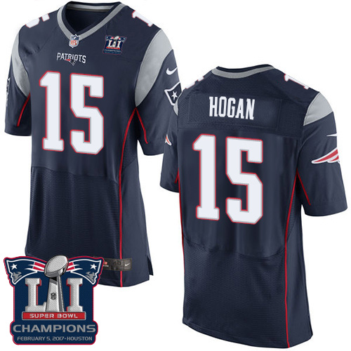 Nike Patriots 15 Chris Hogan Navy 2017 Super Bowl LI Champions Elite Jersey