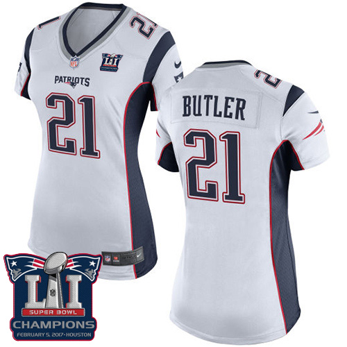 Nike Patriots 21 Malcolm White 2017 Super Bowl LI Champions Women Game Jersey