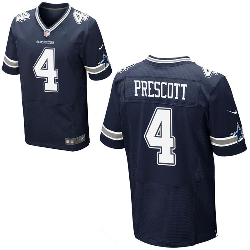 Nike Cowboys 4 Dak Prescott Navy Elite Jersey