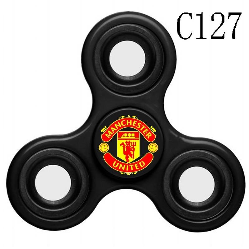 Manchester United Team Logo Black 3 Way Fidget Spinner