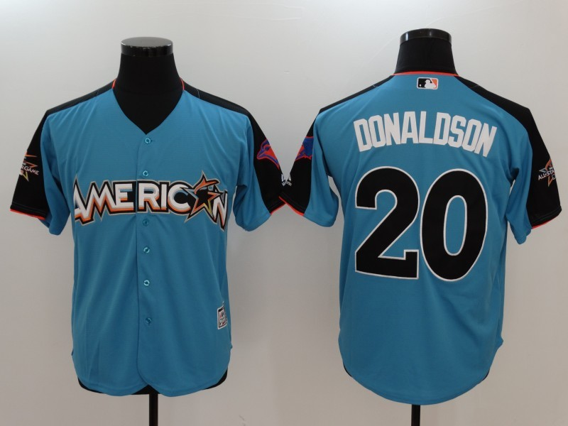 American League 20 Josh Donaldson Blue 2017 MLB All-Star Game Home Run Derby Player Jersey