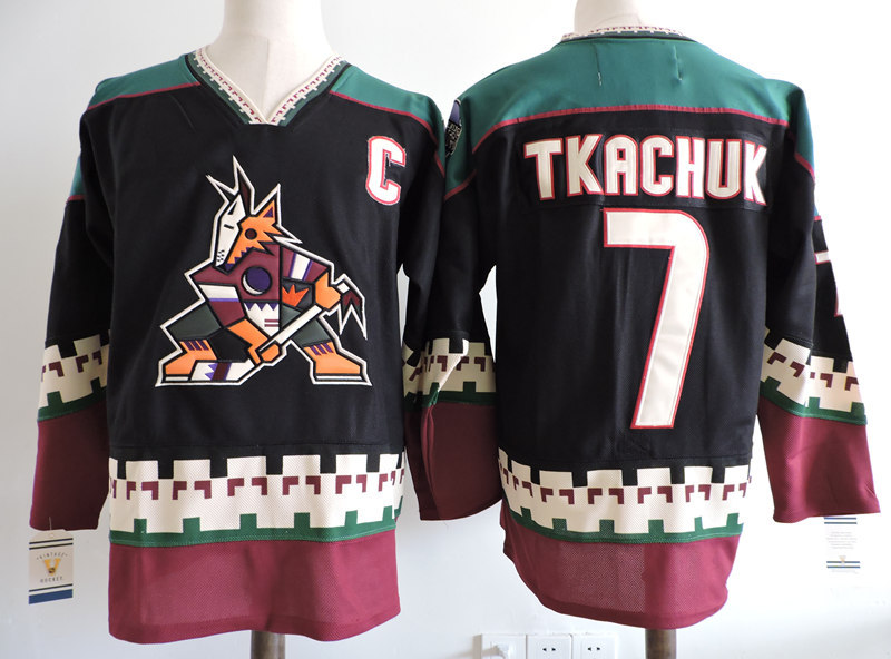 Coyotes 7 Keith Tkachuk Black CCM Jersey