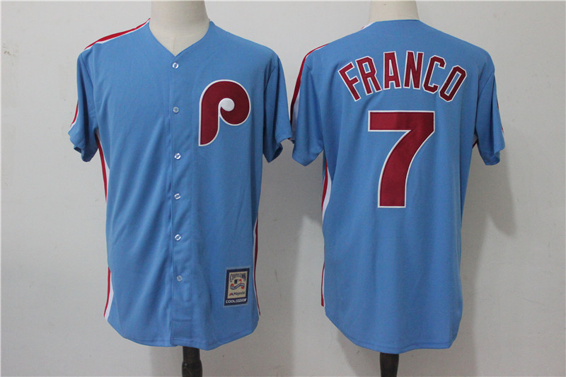Phillies 7 Maikel Franco Light Blue Alternate Cooperstown Collection Jersey