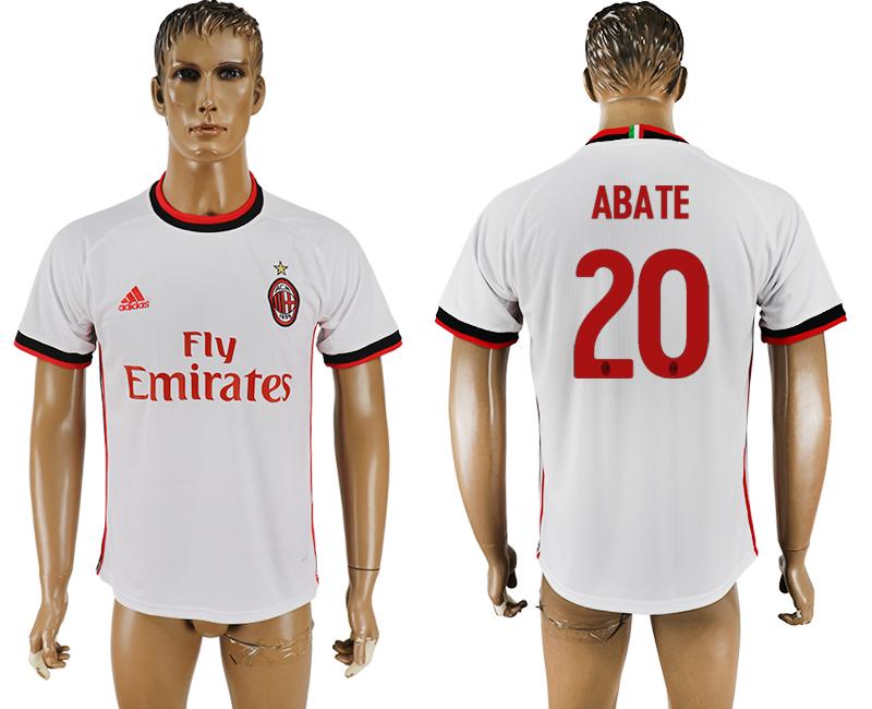 2017-18 AC Milan 20 ABATE Away Thailand Soccer Jersey