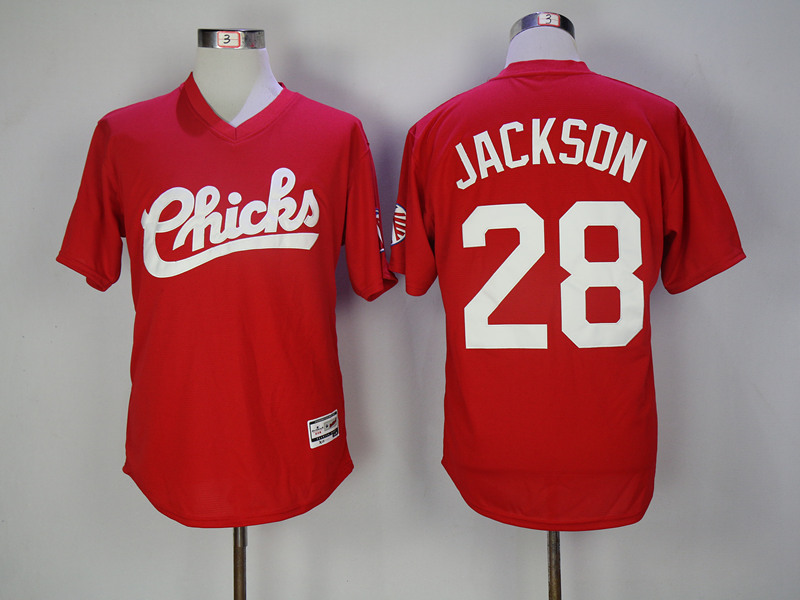 Chicks 28 Bo Jackson Red Stitched Movie Jersey