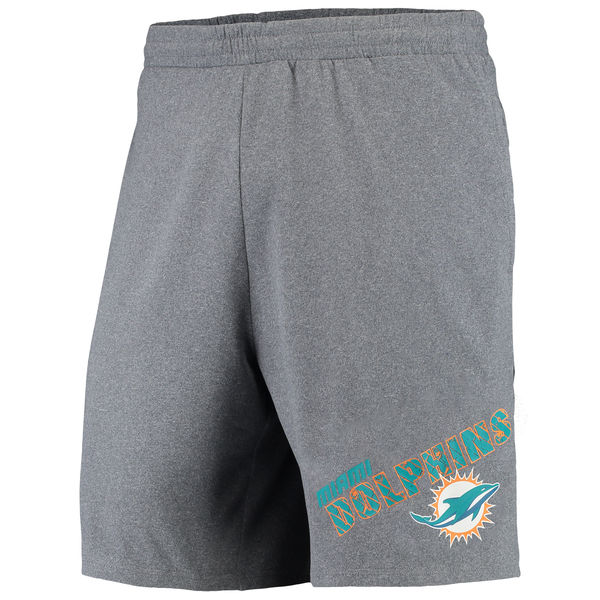 Miami Dolphins Concepts Sport Tactic Lounge Shorts Heathered Gray