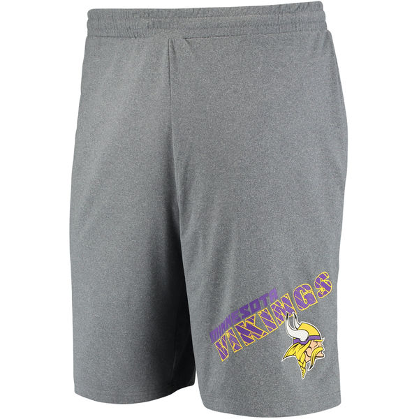 Minnesota Vikings Concepts Sport Tactic Lounge Shorts Heathered Gray