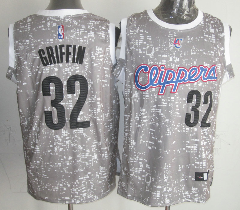 Clippers 32 Blake Griffin Gray City Luminous Jersey