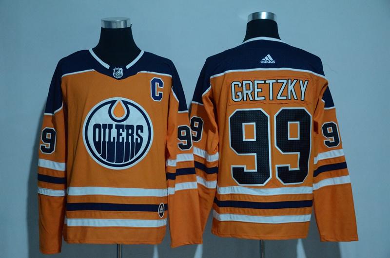 Oilers 99 Wayne Gretzky Orange Adidas Jersey