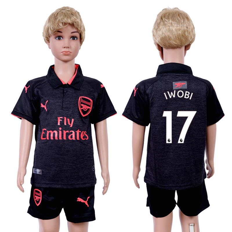 2017-18 Arsenal 17 IWOBI Third Away Youth Soccer Jersey