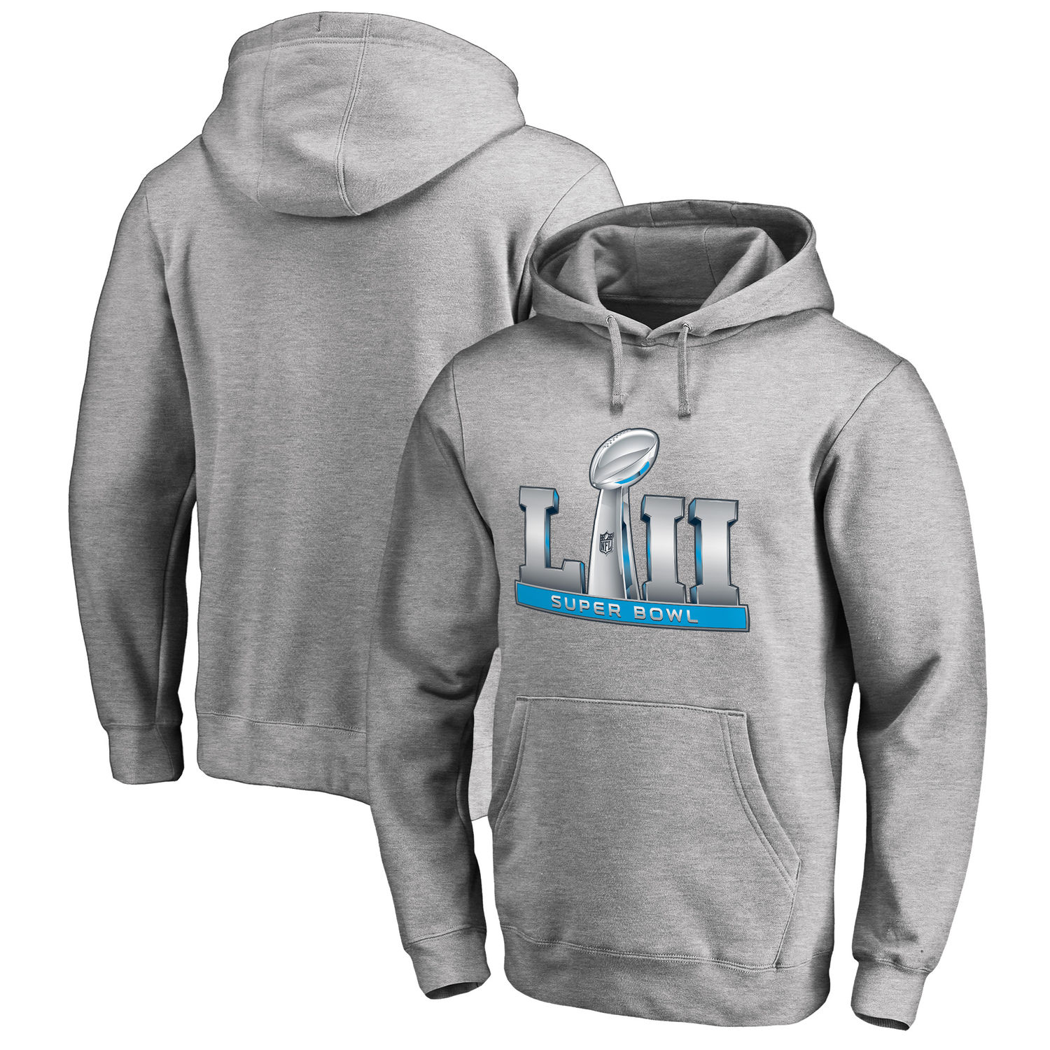 Men's NFL Pro Line by Fanatics Branded Heathered Gray Super Bowl LII Event Pullover Hoodie