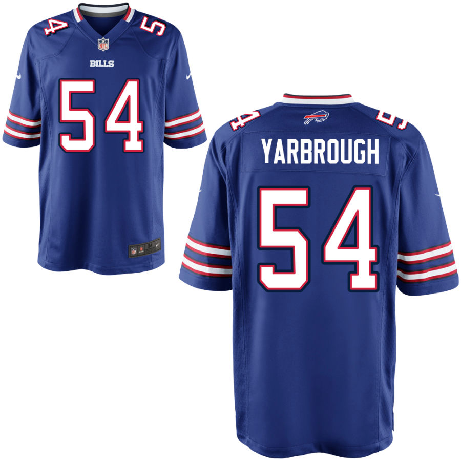 Nike Bills 54 Eddie Yarbrough Royal Elite Jersey