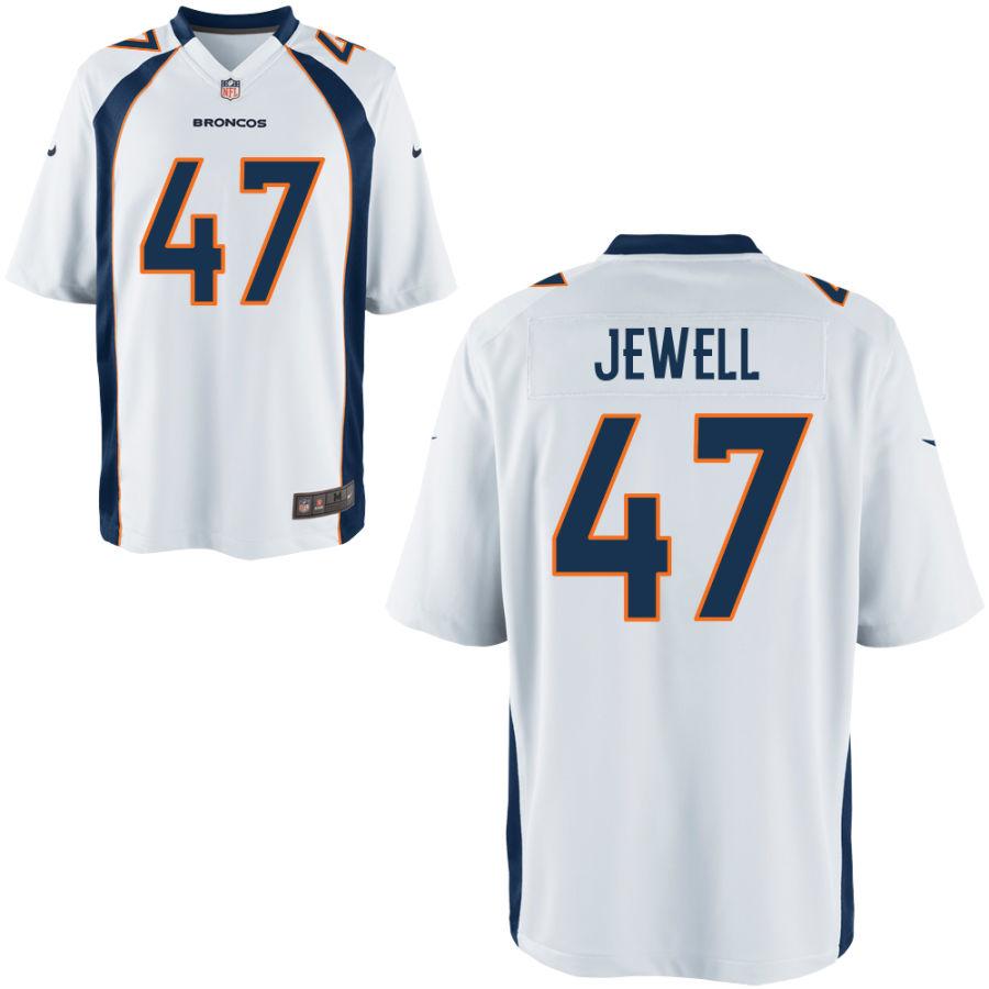 Nike Broncos 47 Josey Jewell White Elite Jersey