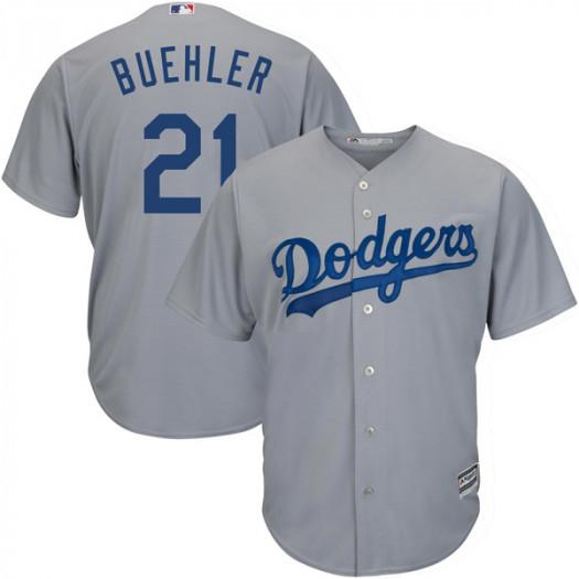 Dodgers 21 Walker Buehler Gray Cool Base Jersey