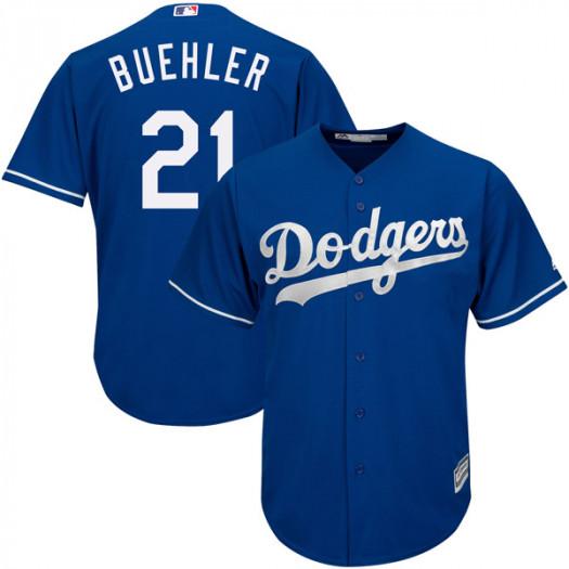Dodgers 21 Walker Buehler Royal Cool Base Jersey
