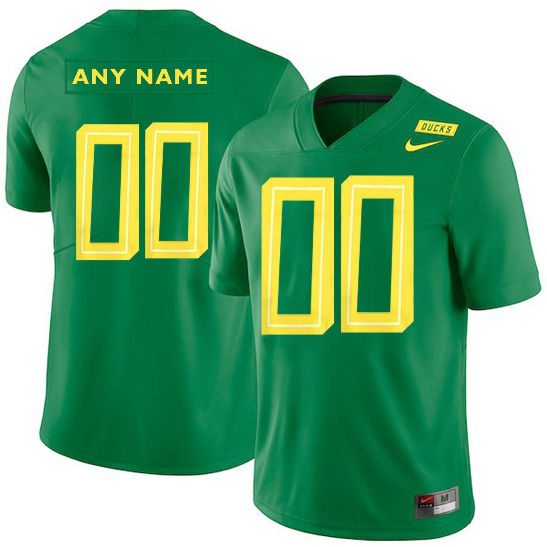 Oregon Ducks Apple Green Men's Customized College Football Jersey