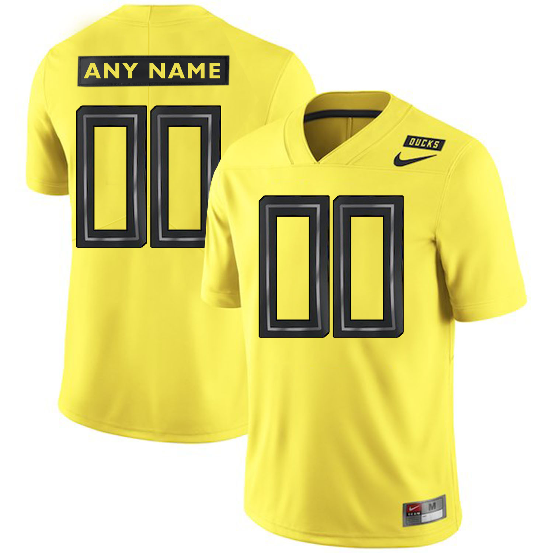 Oregon Ducks Apple Yellow Men's Customized College Football Jersey