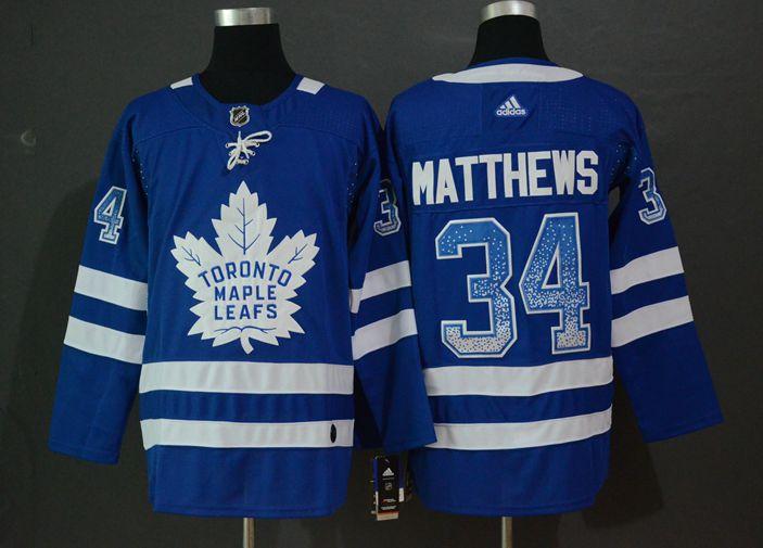 Maple Leafs 34 Auston Matthews Blue Drift Fashion Adidas Jersey