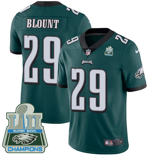 Nike Eagles 29 LeGarrette Blount Green 2018 Super Bowl Champions Youth Vapor Untouchable Player Limited Jersey